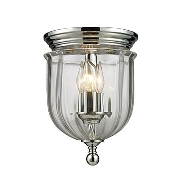 Z-Lite Warwick (137F)  Lampe encastrée à trois lumières, 8,5 po x 11,5 po, chrome