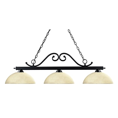 Z-Lite Windsor (149MB-DGM14) 3 Light Billiard, 46