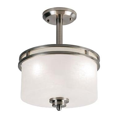 Z-Lite Cobalt (152SF) - Lampe semi-encastrée à trois lumières, 12 po x 14 po, nickel brossé