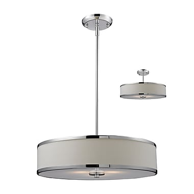 Z-Lite Cameo (164-20) 3 Light Convertible Pendant, 19.5