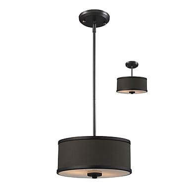 Z-Lite Cameo (166-12) 2 Light Convertible Pendant, 11.75