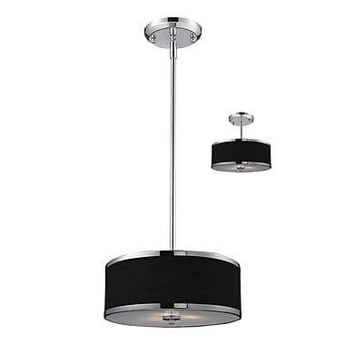 Z-Lite Cameo (168-12) 2 Light Convertible Pendant, 11.75