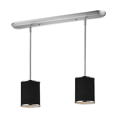 Z-Lite Cameo (168-6-2) - Luminaire de billard/Island à deux lumières, 30 po x 6 po, chrome