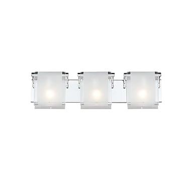 Z-Lite Zephyr (169-3V) - Luminaire pour salle de bains à trois lumières, 4,53 po x 25,43 po x 4,33 po, chrome