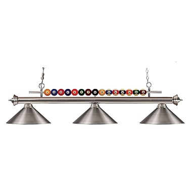 Z-Lite Shark (170BN-MBN) 3 Light Billiard, 58