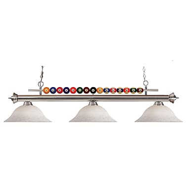 Z-Lite Shark (170BN-WM16) 3 Light Billiard, 60