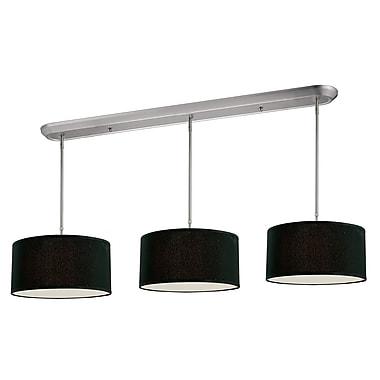 Z-Lite Albion (171-16-3B)  Luminaire de billard/Island à neuf lumières, 60 po x 16 po, nickel brossé