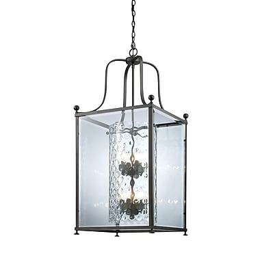 Z-Lite Fairview (177-8) - Suspension à huit lumières, 18,5 po x 43,5 po, bronze