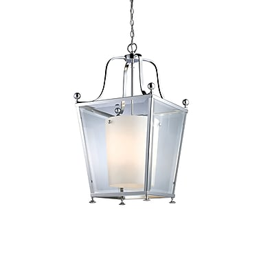 Z-Lite Ashbury (178-4) - Suspension à quatre lumières, 15,5 po x 26,25 po, chrome