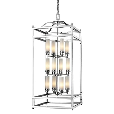 Z-Lite Altadore (180-12) - Suspension à douze lumières, 17,75 po x 17,75 po x 41,34 po, chrome