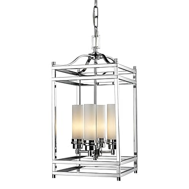 Z-Lite Altadore (180-4) - Suspension à quatre lumières, 10,63 po x 10,63 po x 22,25 po, chrome