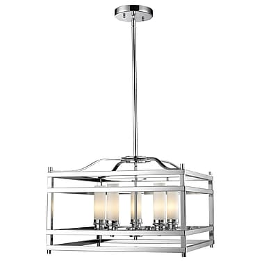 Z-Lite Altadore (180-5) - Suspension à cinq lumières, 20,85 po x 20,85 po x 60,24 po, chrome