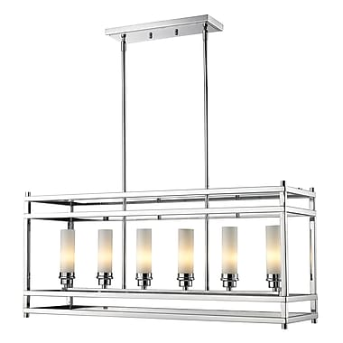 Z-Lite Altadore (180-6) - Suspension à six lumières, 35 po x 9,85 p x 85,85 po, chrome