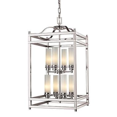 Z-Lite Altadore (182-8) - Suspension à huit lumières, 15 po x 28,75 po, nickel brossé