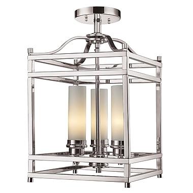 Z-Lite Altadore (182SF) - Lampe semi-encastrée à trois lumières, 10,75 po x 17,13 po, nickel brossé