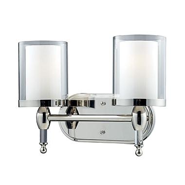 Z-Lite Argenta (1908-2V) - Luminaire pour salle de bains à deux lumières, 6,25 po x 14,5 po x 10,5 po, chrome
