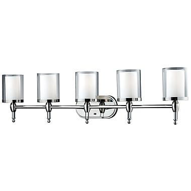 Z-Lite Argenta (1908-5V) - Luminaire pour salle de bains à cinq lumières, 6,25 po x 43,25 po x 10,5 po, chrome
