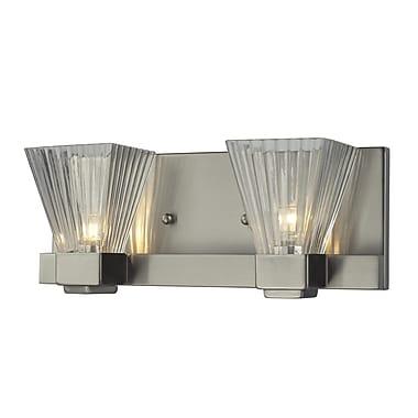 Z-Lite Iluna (1910-2V) - Luminaire pour salle de bains à deux lumières, 4 po x 11,5 po x 4,5 po