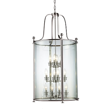 Z-Lite Wyndham (191-12) - Suspension à douze lumières, 21,5 po x 42,5 po, nickel brossé
