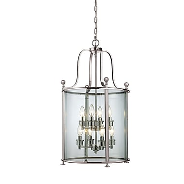 Z-Lite Wyndham (191-8) - Suspension à huit lumières, 18 po x 31,5 po, nickel brossé