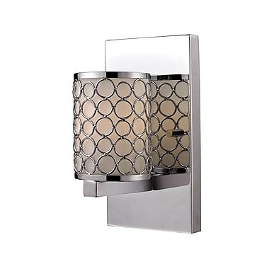 Z-Lite Synergy (199-1S) - Bras de lumière à une lumière, 4,75 po x 4,25 po x 7,88 po, chrome