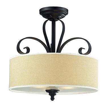 Z-Lite Charleston (2001SF) 3 Light Semi-Flush Mount, 17.88