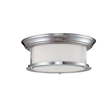 Z-Lite Sonna (2002F13-BN) - Plafonnier à deux lumières, 13,25 po x 5,25 po, nickel brossé