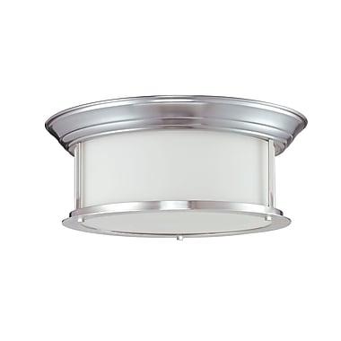 Z-Lite Sonna (2002F16-BN) - Plafonnier à trois lumières, 15,5 po x 6 po, nickel brossé