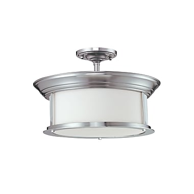 Z-Lite Sonna (2002SF-BN) 3 Light Semi-Flush Mount, 15.5