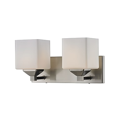 Z-Lite Quube (2104-2V) 2 Light Vanity Light, 6