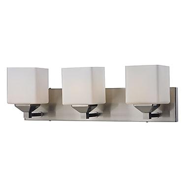 Z-Lite Quube (2104-3V) - Luminaire pour salle de bains à trois lumières, 6 po x 24 po x 6,75 po,