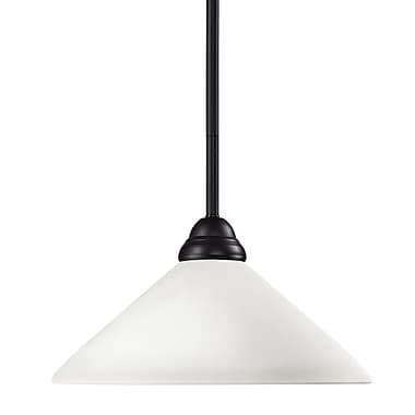 Z-Lite Riviera (2114MP-BRZ-AMO14) 1 Light Pendant, 14