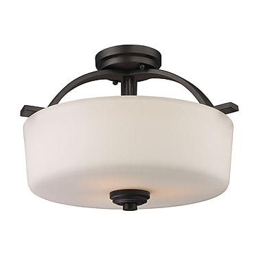 Z-Lite Arlington (220SF) 3 Light Semi-Flush Mount, 15.63