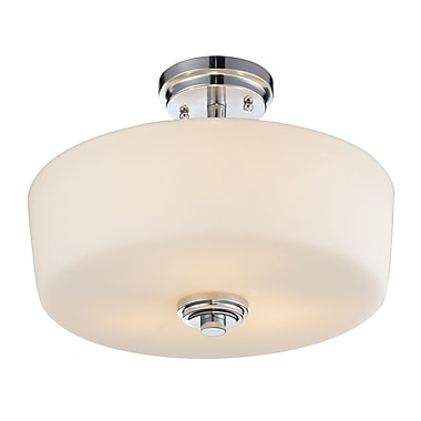 Z-Lite Lamina (225SF) 3 Light Semi-Flush Mount, 14.38