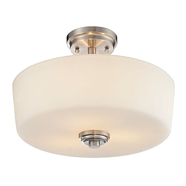 Z-Lite Lamina (226SF) 3 Light Semi-Flush Mount, 14.38