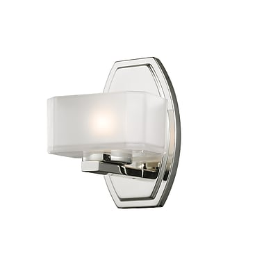 Z-Lite Cabro (3008-1V) - Luminaire pour salle de bains à une lumière, 5,88 po x 5,5 po x 8 po, chrome