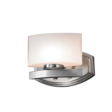 Z-Lite Galati (3013-1V) - Luminaire pour salle de bains à une lumière, 5,5 po x 8 po x 5,75 po, nickel brossé