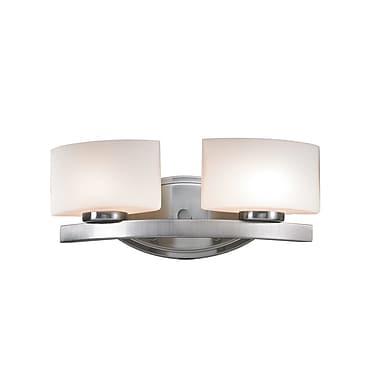 Z-Lite Galati (3013-2V) - Luminaire pour salle de bains à deux lumières, 5,13 po x 15,5 po x 5,88 po
