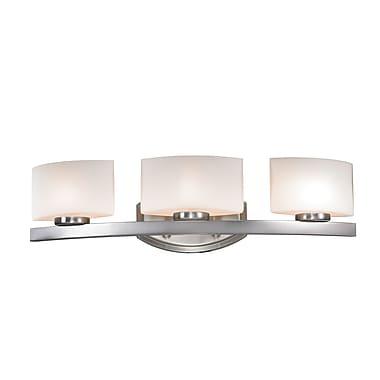 Z-Lite Galati (3013-3V) - Luminaire pour salle de bains à trois lumières, 5,88 po x 23,38 po x 5,88 po