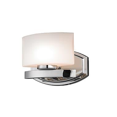 Z-Lite Galati (3014-1V) - Luminaire pour salle de bains à une lumière, 5,5 po x 8 po x 5,75 po, chrome
