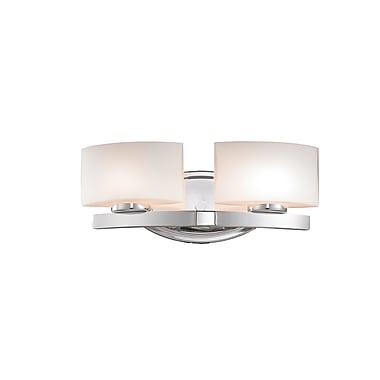 Z-Lite Galati (3014-2V) - Luminaire pour salle de bains à deux lumières, 5,13 po x 15,5 po x 5,88 po, chrome