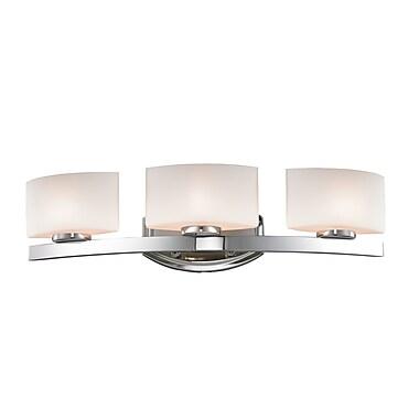 Z-Lite Galati (3014-3V) - Luminaire pour salle de bains à trois lumières, 5,88 po x 23,38 po x 5,88 po, chrome