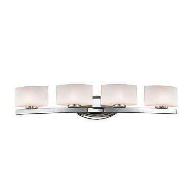 Z-Lite Galati (3014-4V) - Luminaire pour salle de bains à quatre lumières, 6 po x 32 po x 5,88 po, chrome
