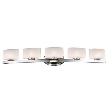 Z-Lite Galati Vanity Light, Chrome, Matte Opal Glass Shade (3014-5V-LED)