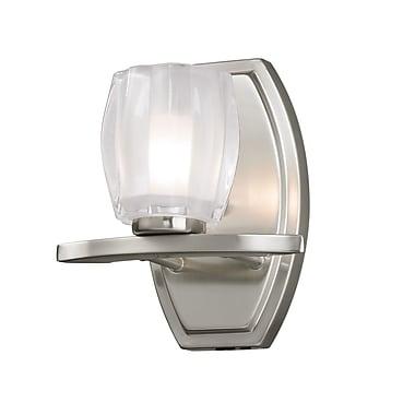 Z-Lite Haan (3017-1V) - Luminaire pour salle de bains à une lumière, 5,63 po x 7 po x 8 po, nickel brossé