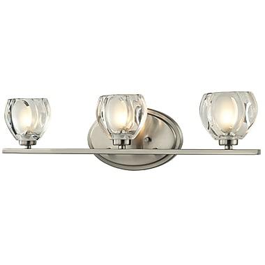Z-Lite Hale (3022-3V) - Luminaire pour salle de bains à trois lumières, 3,75 po x 21 po x 5,75 po, nickel brossé