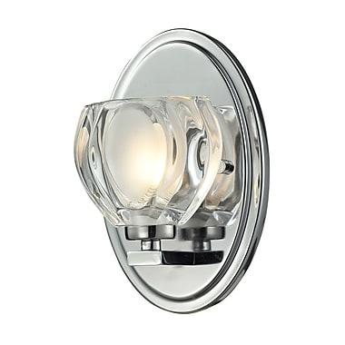 Z-Lite Hale (3023-1V) - Luminaire pour salle de bains à une lumière, 3,75 po x 5 po x 8 po, chrome