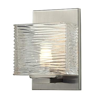 Z-Lite Jaol (3024-1V) - Luminaire pour salle de bains à une lumière, 3,75 po x 5,25 po x 7,13 po, nickel brossé
