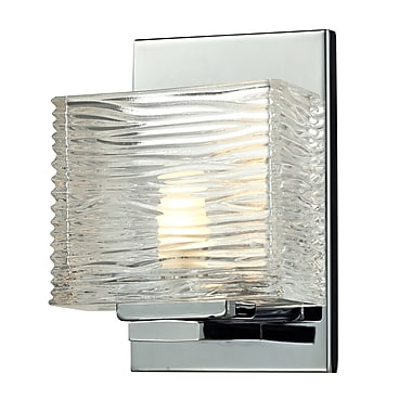 Z-Lite Jaol (3025-1V) - Luminaire pour salle de bains à une lumière, 3,75 po x 5,25 po x 7,13 po, chrome