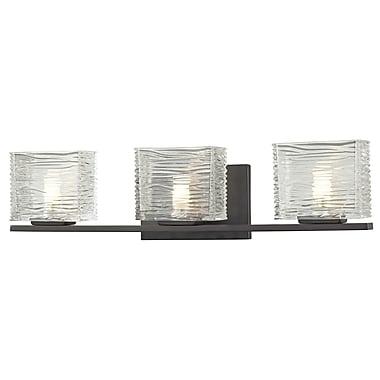 Z-Lite Jaol (3026-3V) - Luminaire pour salle de bains à trois lumières, 3,75 po x 22,5 po x 5,63 po, bronze